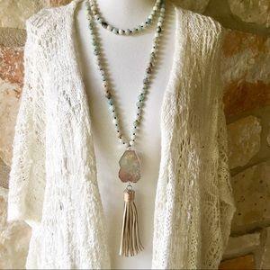 Anthropologie Amazonite Boho Necklace
